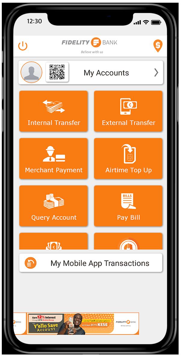 Fidelity Mobile App - Fidelity Bank